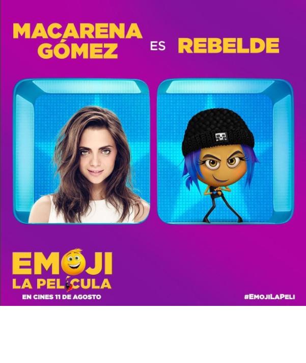 """Macarena Gómez estrena """"Emoji: La Película"""""""