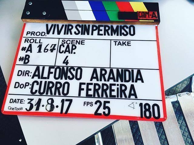 "Àlex Monner, en Galicia rodando ""Vivir sin permiso"""