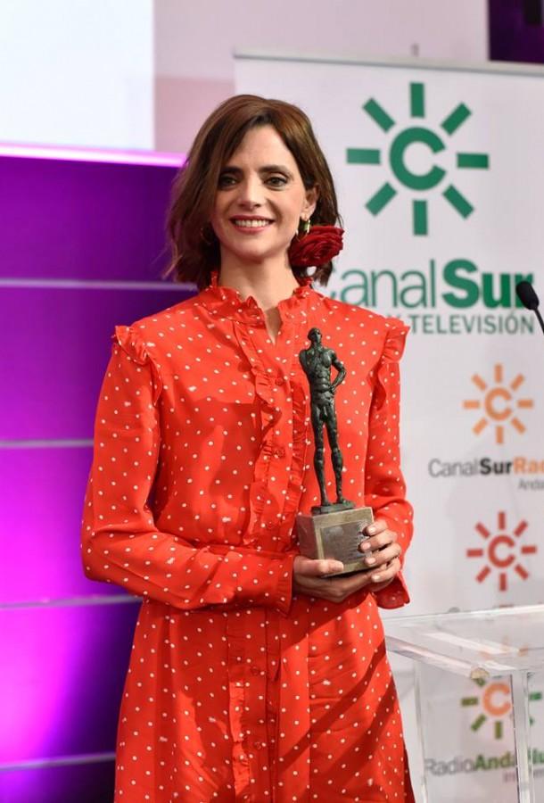 """Macarena Gómez """"Premio al Talento Andaluz"""" en el Festival de Málaga"""