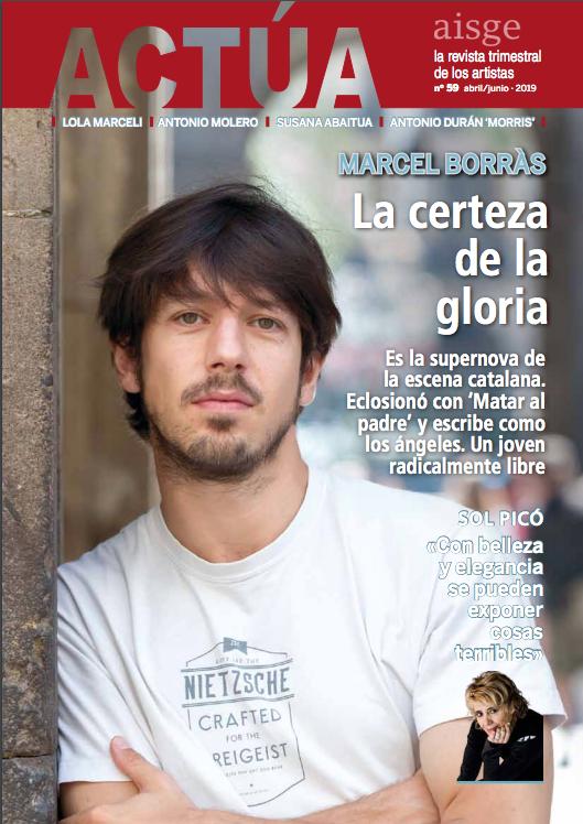 Marcel Borràs, protagonista del nuevo número de la revista ACTÚA (Aisge)
