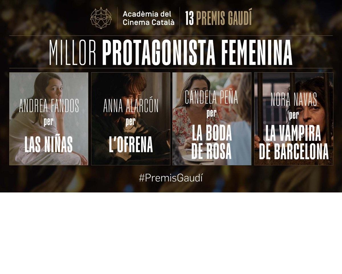 Anna Alarcón, nominada a Mejor Actriz Protagonista en los Premis Gaudí